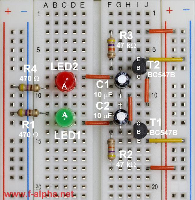 Consider, that Electronic multi vibrator