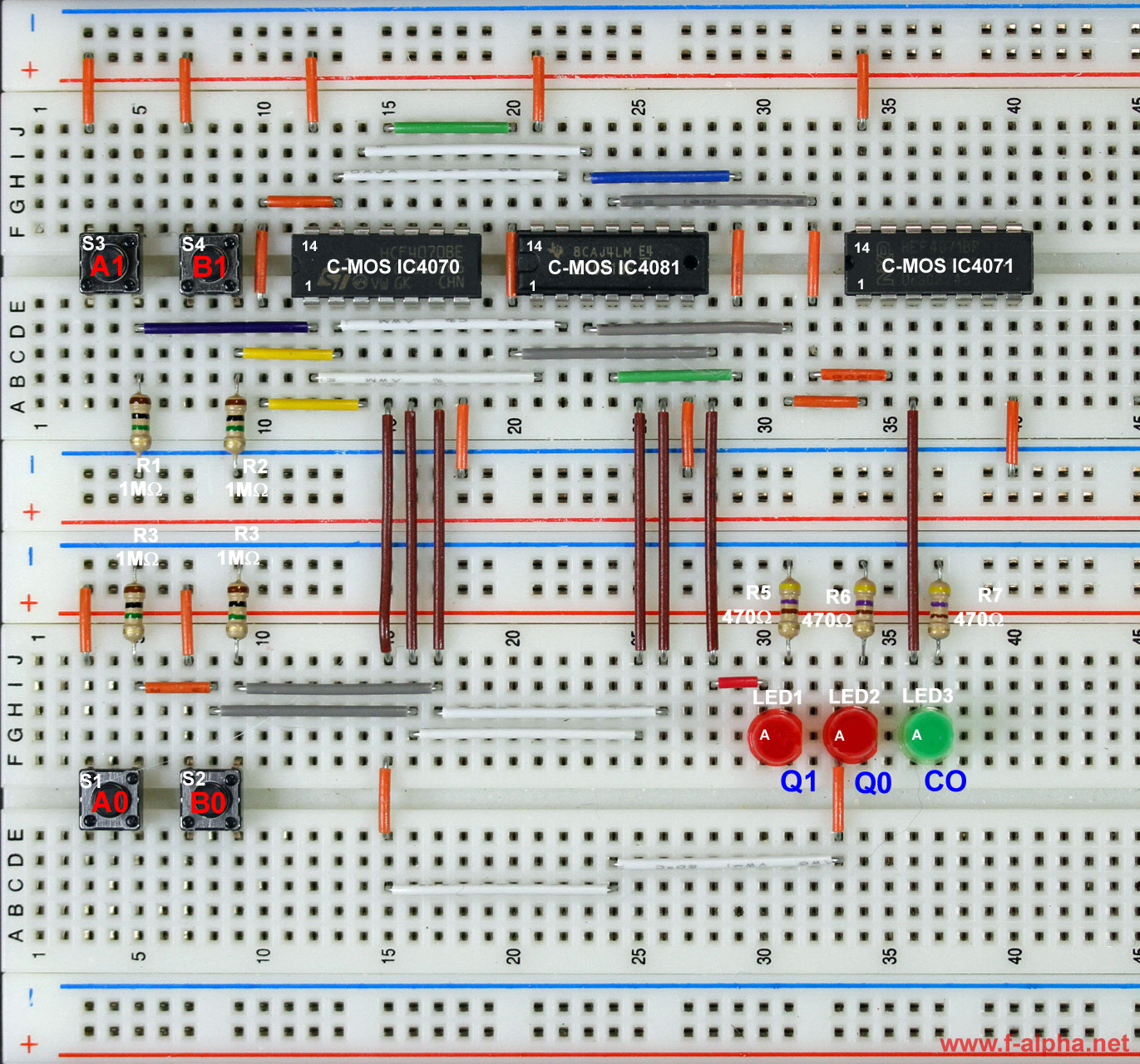 F Alphanet Experiment 4 2 Bit Adder Full Diagram Circuit