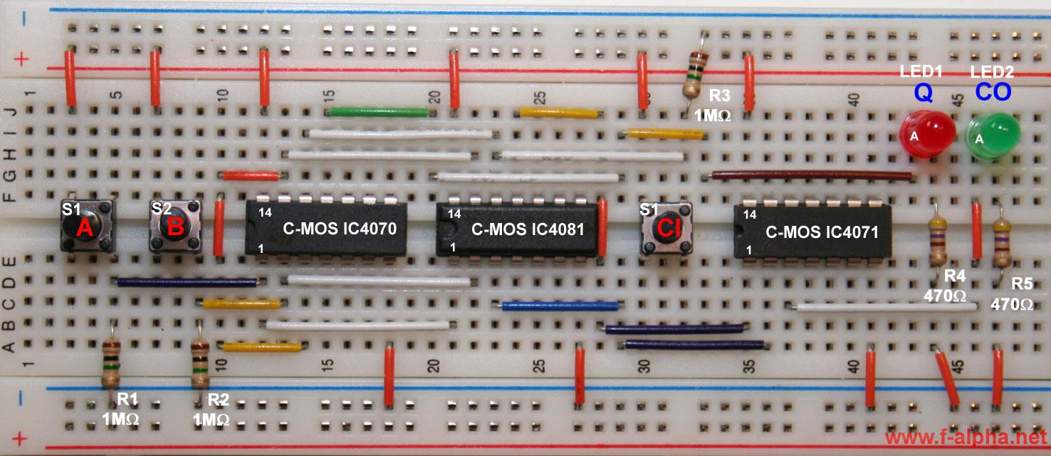 4 Bit Full Adder Circuit On Breadboard Free Vehicle Wiring Diagrams Subtractor Diagram F Alpha Net Experiment 12 The Rh En