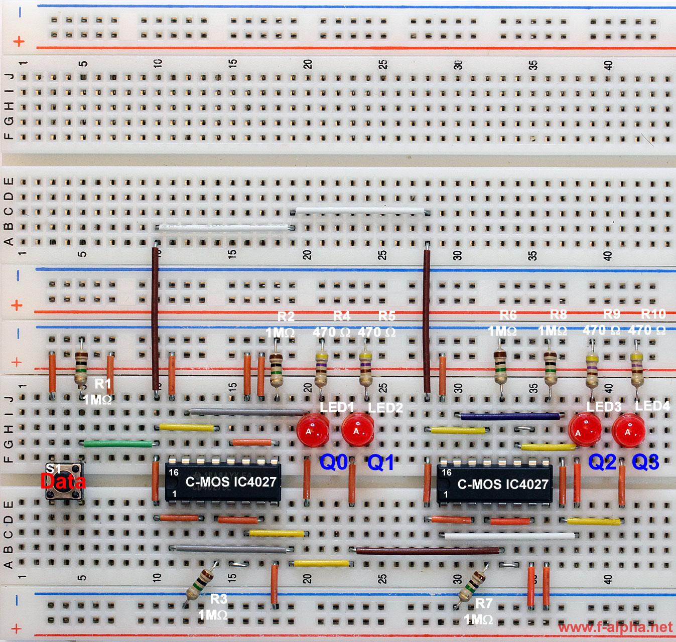 F Alphanet Experiment 10 False Synch 4 Bit Counter T Flip Flop Circuit Diagram