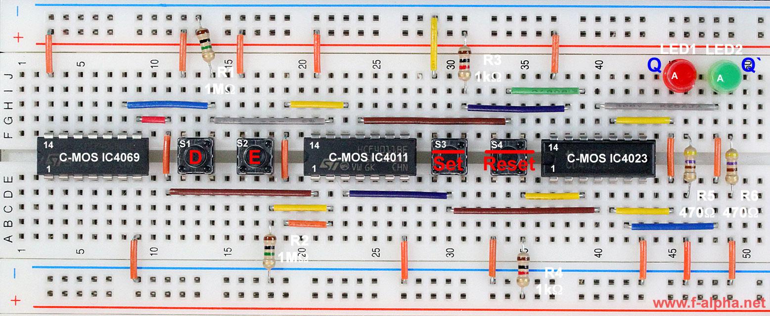 F Alphanet Experiment 23 Asynchronous Inputs D Latch Circuit Diagram