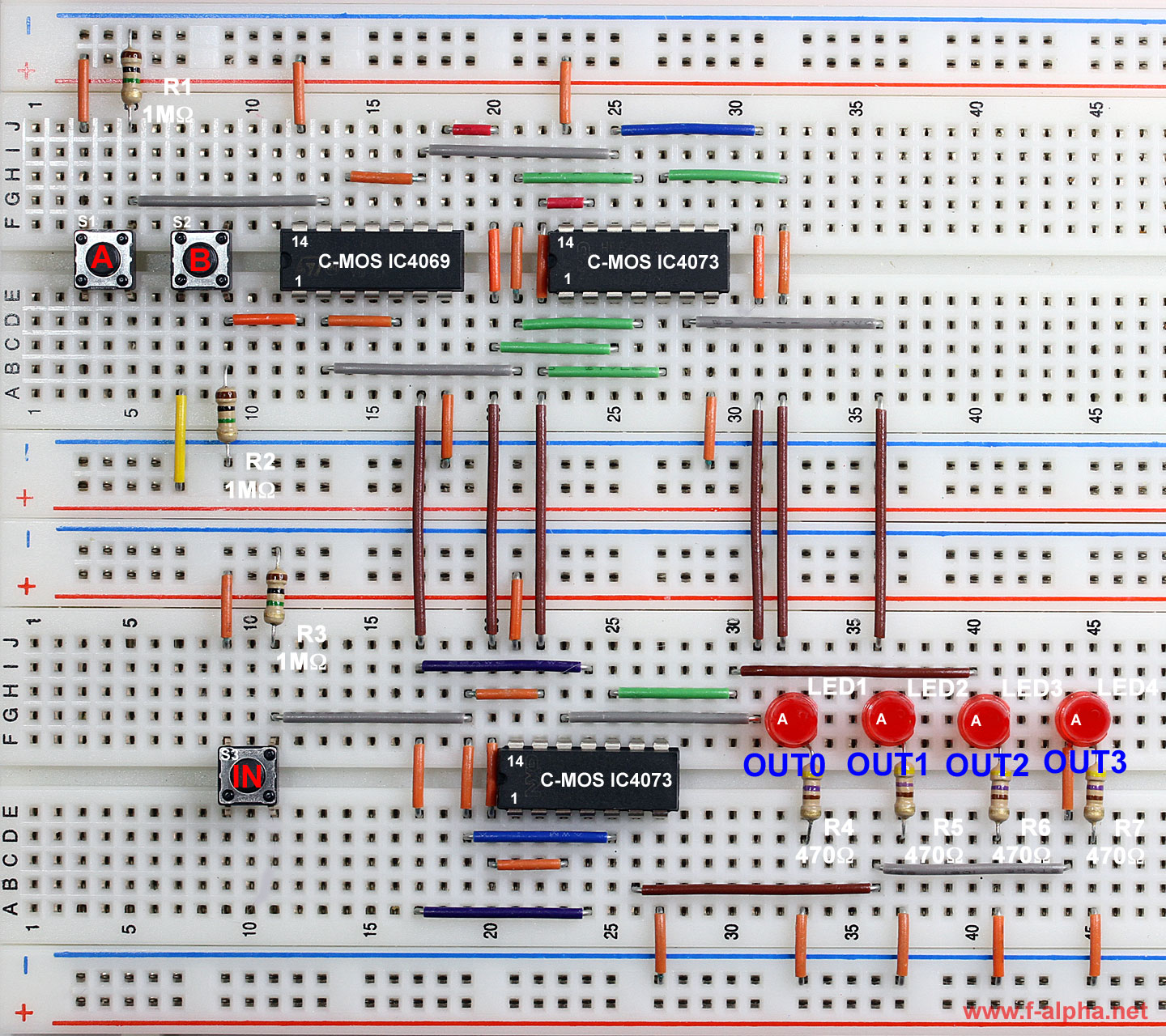 F experiment 4 1 to 4 demultiplexer for Circuit multiplexeur