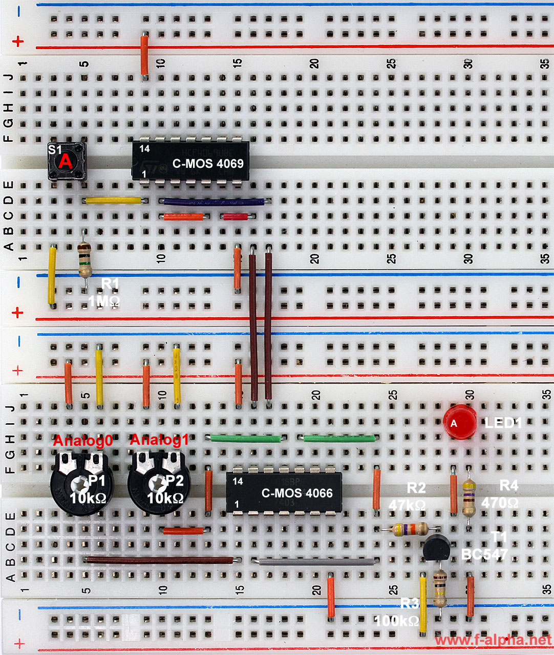 F experiment 9 2 to 1 analog mux for Circuit multiplexeur