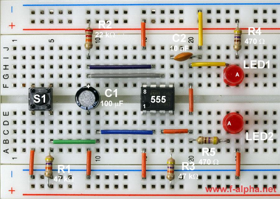 One Shot Timer Use Ic Ne555 Circuit Electronic Circuits
