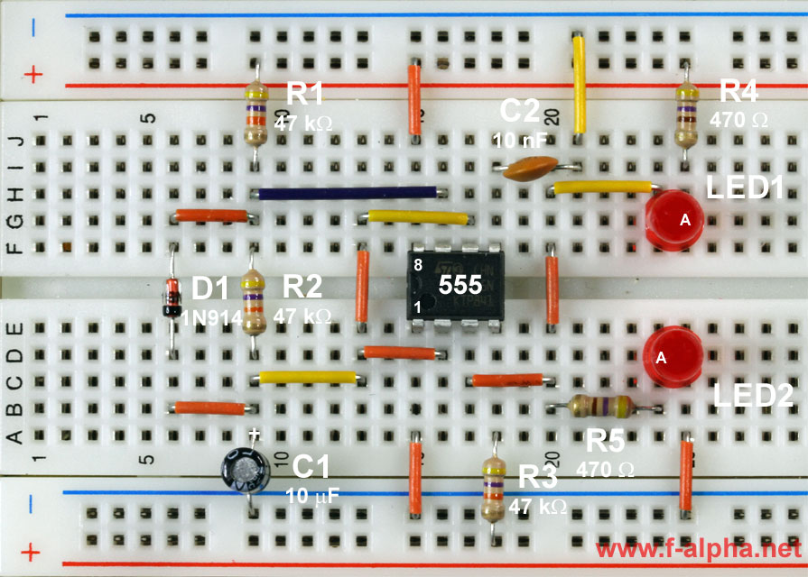 555 Long Time Delay Circuit 2 555circuit Circuit Diagram Seekic
