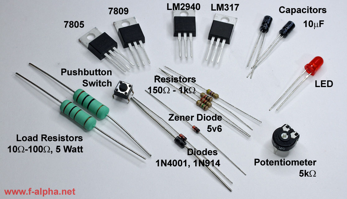 Components Voltage Regulator Web on Potentiometer Circuit With Resistor