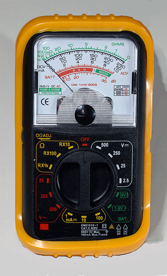 Reading An Ohmmeter : F alpha the multimeter
